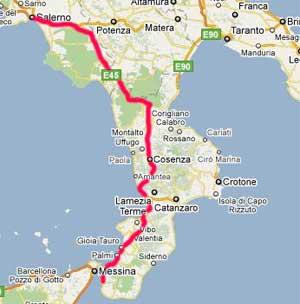 mappa autostrada salerno reggio calabria